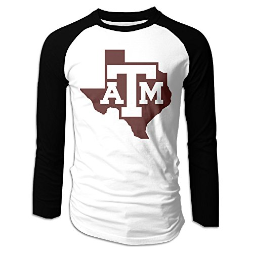 Ahey Men's Custom Long Sleeve Raglan Texas A&m University T Shirt S (Texas A&m Reveille Costume)
