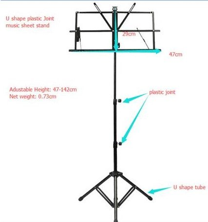 Unistore-High Quality Lightweight Music Stand, Adjustable and Portable * FREE BAG MS1