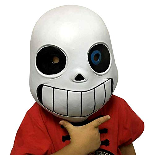 Deluxe Latex Full Head Hood Masque Halloween Adult and Kid's Costume Accessory (Kids)]()