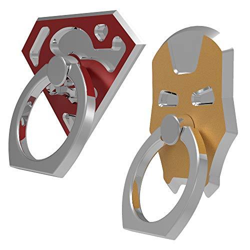 2 juegos de anillos de metal para teléfono celular, soporte de anillo de 360°, material de aluminio de aviación,...