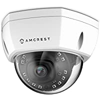 Amcrest ProHD Outdoor 4-Megapixel PoE Vandal Dome IP Security Camera - IP67 Weatherproof, IK10 Vandal-Proof, 4MP (2688 TVL), IP4M-1028E (White)