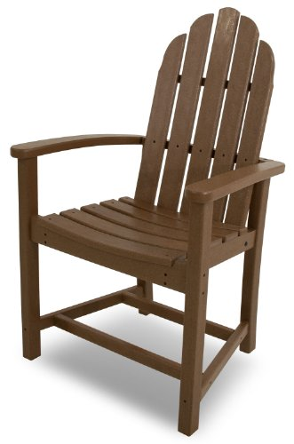 POLYWOOD ADD200TE Classic Adirondack Dining Chair, Teak