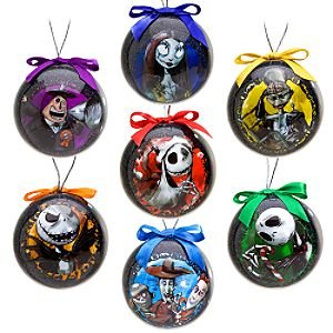 disney tim burtons the nightmare before christmas decoupage ornament set