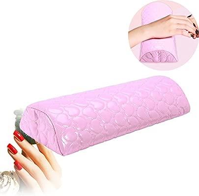 Nail Art PU piel suave cojín Manicura Esponja mano ruht cusion plana Salon rosa