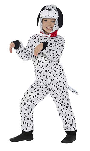 Smiffy's Dalmatian Kids Fancy Dress Dog Puppy Book Day Week Boys Girls Childrens Costume BLACK AND WHITE Medium