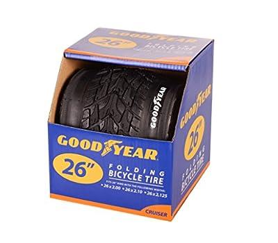 "Goodyear Folding Bead Cruiser Bike Tire, 26"" x 2.2125"", Black"