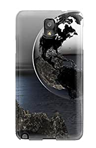Elliot D. Stewart's Shop Best Tpu Shockproof Scratcheproof Surreal Earth Hard Case Cover For Galaxy Note 3 8252685K40873487