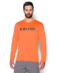 Under Armour Mens UA I Fish Long Sleeve T-Shirt Large CITRUS BLAST