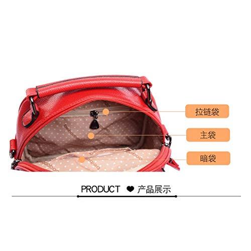 Zaino Bag lungo Multitasche Tracolla rosso Messenger Women blu Fannb For xYqwTWpSW5