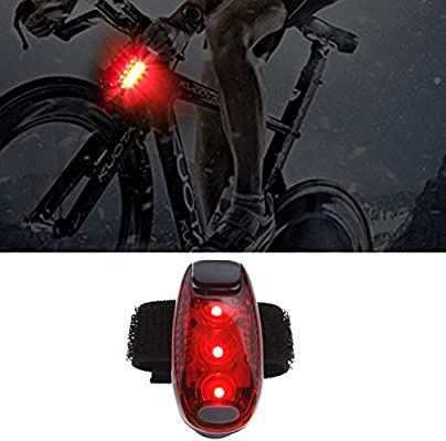 4pcs Running Cycling LED Safety Light Set with Screwdriver and Straps Clip-on
