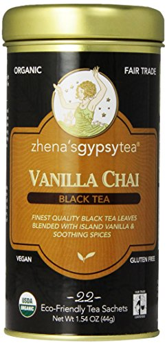 Zhena's Gypsy Chai Black Tea, Vanilla, 22 Count Vanilla Chai Black Tea