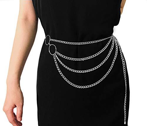 (Women Sexy Multilayer Waist Belt Chain Bikini Beach Body Jewelry Harness Belly Chains for Waistbands)