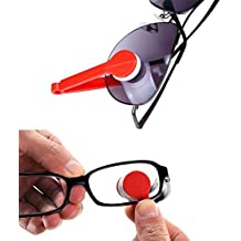 Mini Sun Glasses Eyeglass Microfiber Spectacles Cleaning Clip Soft Brush Cleaning Tool Microfiber Glasses Eyeglasses Cleaner - 5 PACK