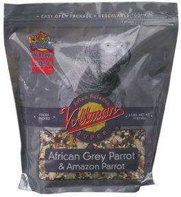 Volkman Avian Science Super African Grey Parrot 20 Lb Bag by Volkman Seed Factory