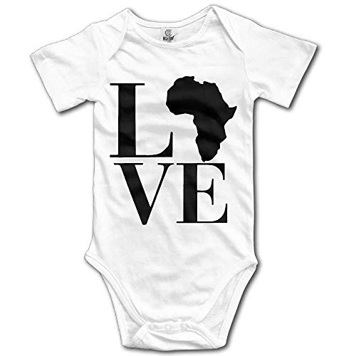 Love Africa Infant Baby Boys Girls Crawling Clothes Short Sleeves Onesie Romper Jumpsuit by braeccesuit