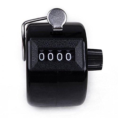 Xinyiwei 4chiffres Nombre Handheld Compteur ABS mécanique Compteur (Noir)