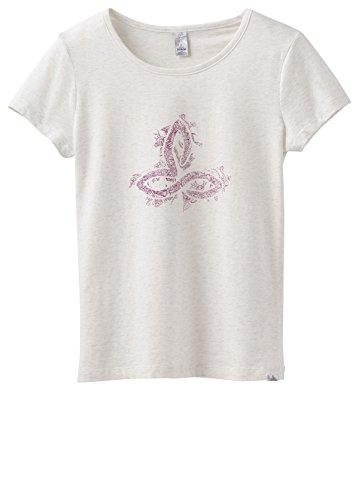 prAna Women's Climbing T-Shirt White Logo S -  W1PRAN316-WTLO