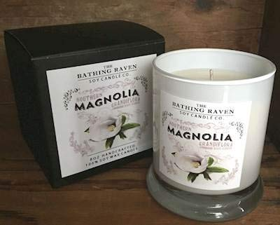 BATHING RAVEN Magnolia - The New Orleans Collection Scented Soy 8 oz Gift Boxed Jar Candles (Ounce Boxed Jar 8)