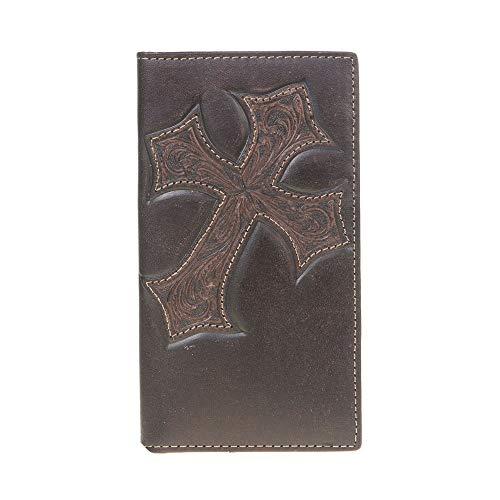 M&F Western Men's Nocona Distressed Cross Money Clip Medium Brown One Size