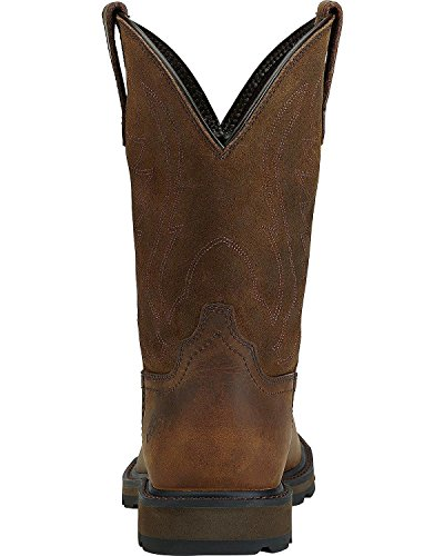 Toe Men's Ariat On Round Brown Groundbreaker Boot Pull Ember Work 0wwRZd