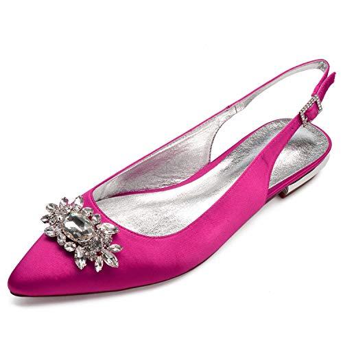 Pink 36 Fibbia 43 Pompe In Sera Avorio Moda Taglia Da Sposa Raso Donna L Scarpe yc SqBFZF