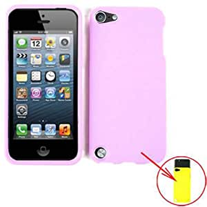 SLIDING HARD CASE COVER FOR APPLE IPOD ITOUCH 5 NEON PURPLE