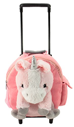 Animal Adventure Jolley Trolley Unicorn Plush Interactive Toys, Pink, 5