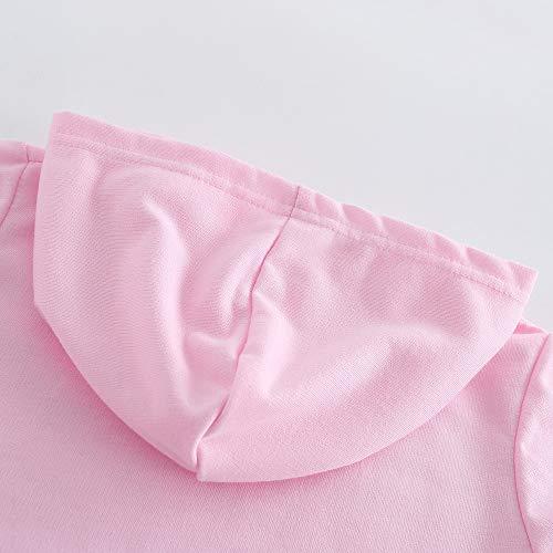 C&NN Ragazzi del Bambino Capretti delle Ragazze di Outfits Popolari Personaggi dei Cartoni Animati con Cappuccio Maglioni Felpe Top Pantaloni Copre Gli Insiemi,Rosa,110cm