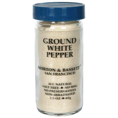 Morton & Bassett Ground White Pepper, 2.3-Ounce Jars, 3-Count Packs