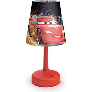 Amazing Philips Disney Cars Kids Table Lamp With Shade