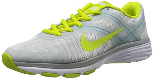 Nike Women's Dual Fusion TR 2 Print White/Light Base Grey/Turbo Green/Venom Green Sneaker 12 B (M)