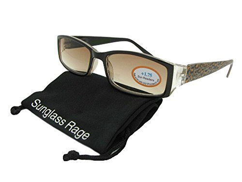 Womens Small Slim Reader Sunglasses With Animal Print Frame R54 (Brown Cheetah Frame-Non Polarized Brown Lens, - Print Glasses Cheetah Frames