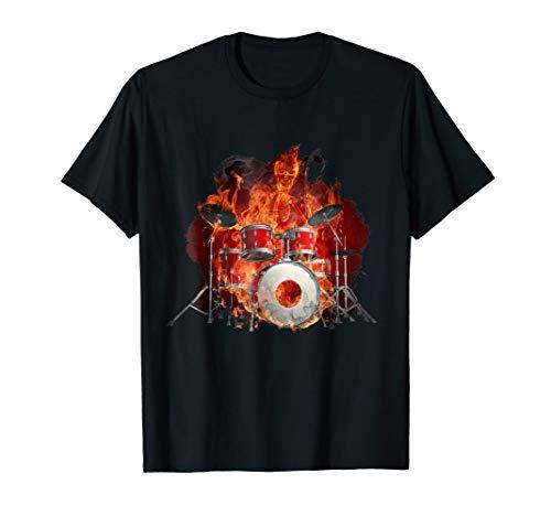 Flaming Skeleton on the Drums - Flaming Drums