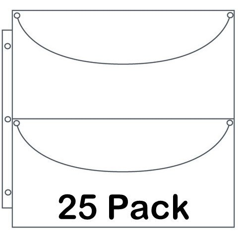 Totally Tiffany - Double X-Long Basic Storage Pages - 25 Pack