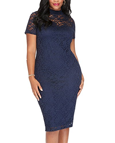 BIUBIU-Womens-Plus-Size-Lace-Bodycon-Party-Midi-Dress-Navy-3XL-6XL