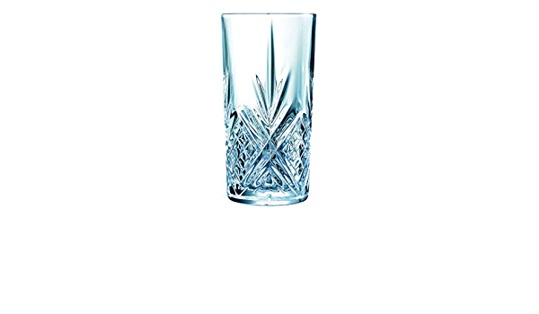Amazon Com Broadway Crystal Cut Hiball Glasses 13 4oz 380ml Case Of 24 Vintage Crystal Inspired Tumblers From Arc Highball Glasses