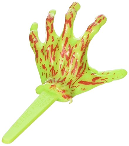 Oasis Supply Cupcake/Cake Halloween Monster Hand, 2 1/2-Inch, Green/Red, -