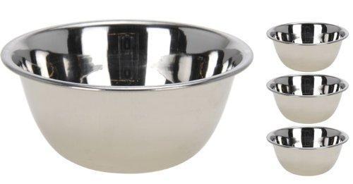 Schüsselset 4-teilig aus Edelstahl, Dessertschalen, Schale, Schüssel (649)