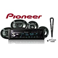 "PIONEER DEH-X8800BHS CD Receiver with TS165695P 6"" x 9"" 3-Way Speaker Pair with 6.5 2 Way Speaker Pair Package with a SOTS Lanyard"