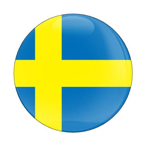 GoBadges Flag Sweden 3 Magnetic Grill Badge//UV Stable /& Weather-Proof//Works Grill Badge Holder CD0216
