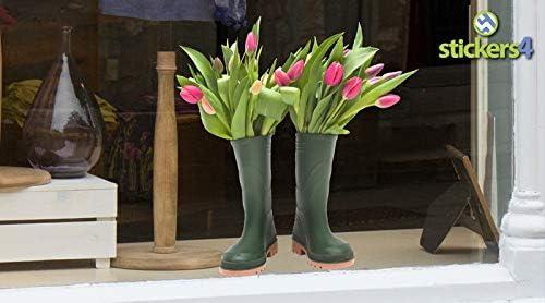 f/ür Weihnachten Stickers4 Bunch of Tulips in EIN Paar Gummistiefel Fenster selbst Aufkleber