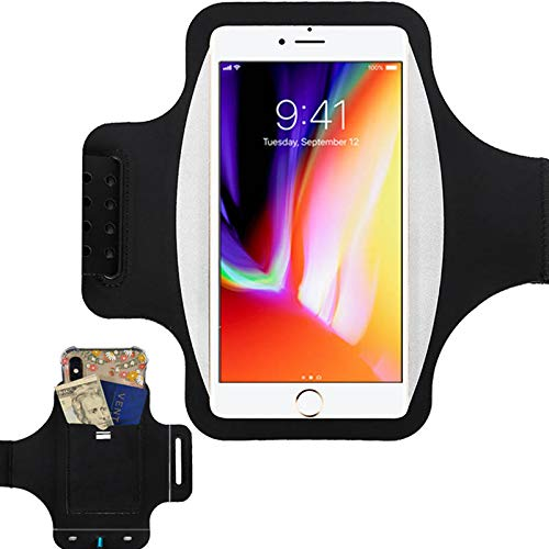 New! Water Resistant Running Armband with Safety Reflective Strips for Phones up to 6.5