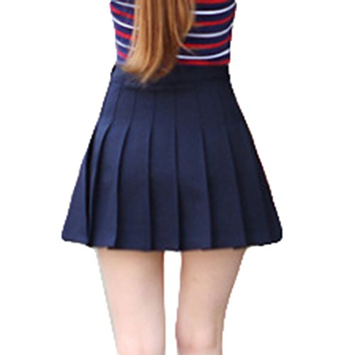 School Skater Pieghe Mini Donna Gonne Tennis Marina Yying Militare A Ragazza Gonna Vita Alta w68ct