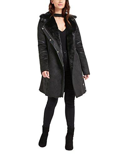 Lipsy Womens Faux Fur Bonded Wrap Coat