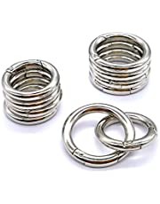 20 stuks 30 mm ronde karabijnhaken 28 mm lente snap clips zinklegering 28 mm kleine O-ring karabijnring