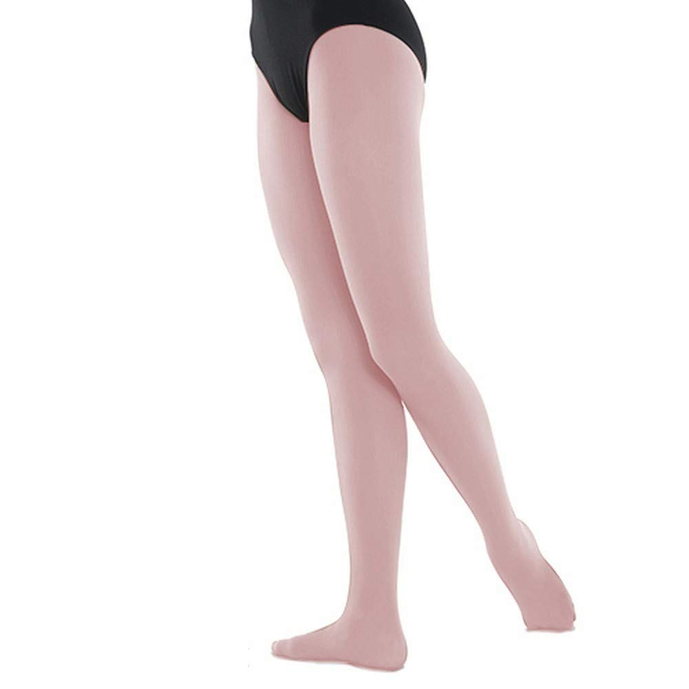 Danshuz Big Girls Pink Super Soft Stretchy Nylon-Micro Spandex Tights 12-14