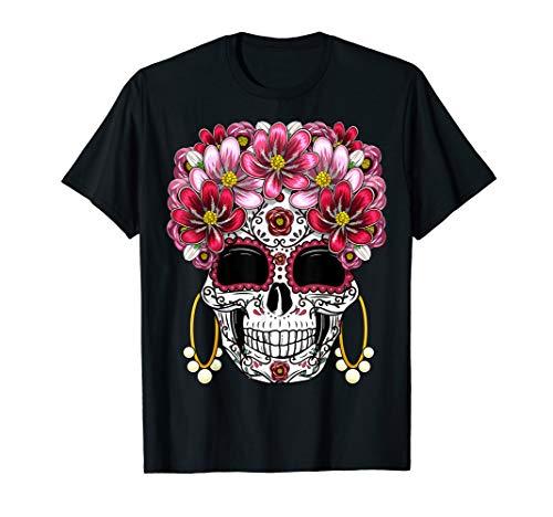 Sugar Skull Female (Floral Sugar Skull Day of the Dead Dia De Muertos Gift Women)