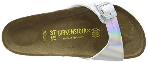 Birkenstock Classic MADRID - zuecos de material sintético mujer Plateado - Mirror Silver
