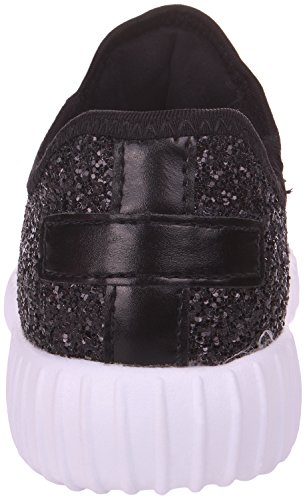 Enimay Womens Glitter Fashion Sneaker Classica Scarpa Da Jogging In Pizzo Nero