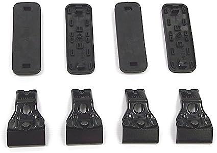 Set of 4 Rhino Rack 2500 Roof Rack Pad and Clamp Kit